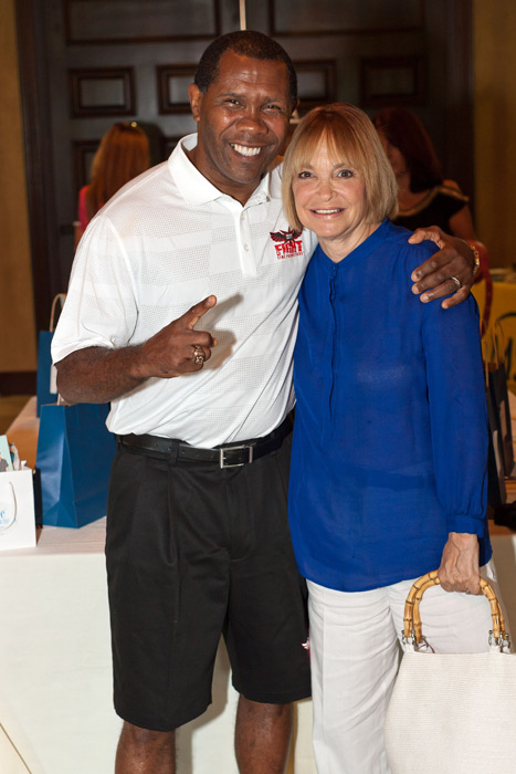 Olympic Gold Medalist Boxer Howard Davis Jr. and CEO of Fight Time Promotions and Perrie Gurfein, Owner of Style Bar Day Spa